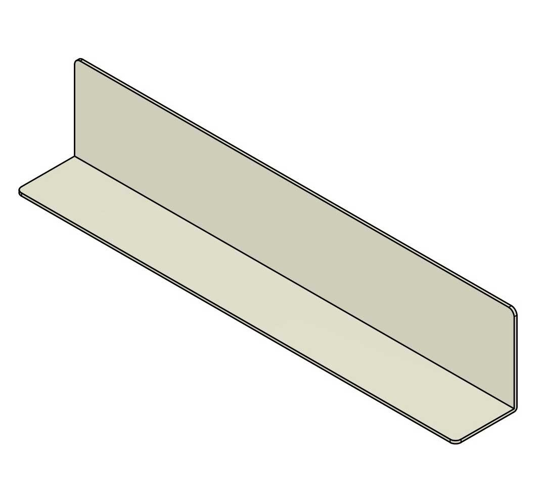 полочный разделитель L-образного типа